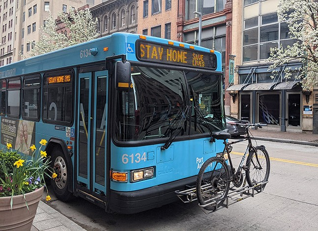 Photo of a PAAC bus, from Lisa Cunningham at PGH City Paper